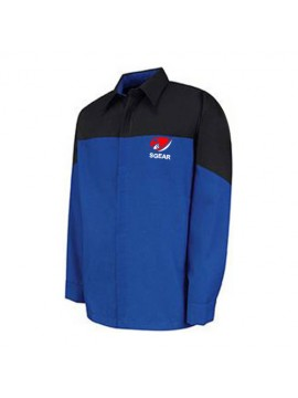 Automotive Mechanic Shirts Full Sleeve Black Blue
