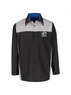 Automotive Mechanic Shirts Full Sleeve Black Grey