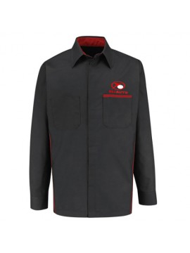 Automotive Mechanic Shirts Full Sleeve Black Red