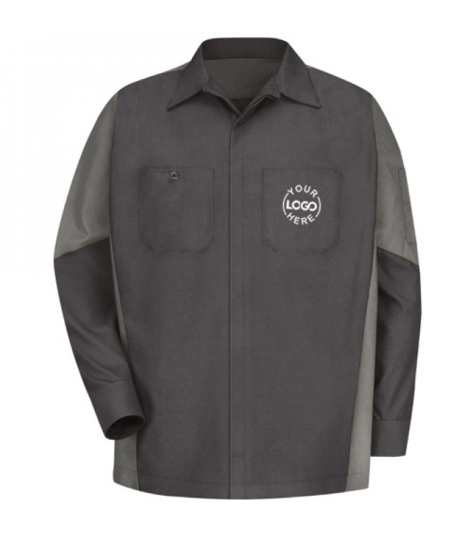 Automotive Mechanic Shirts Full Sleeve Light Dark Grey