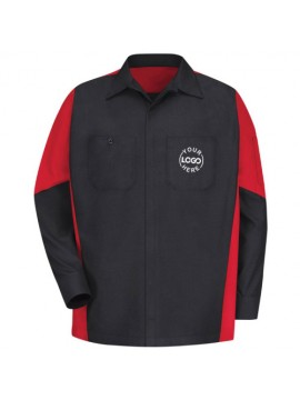 Automotive Mechanic Shirts Full Sleeve Red & Black