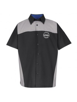 Automotive Mechanic Shirts Half Sleeve Black Grey