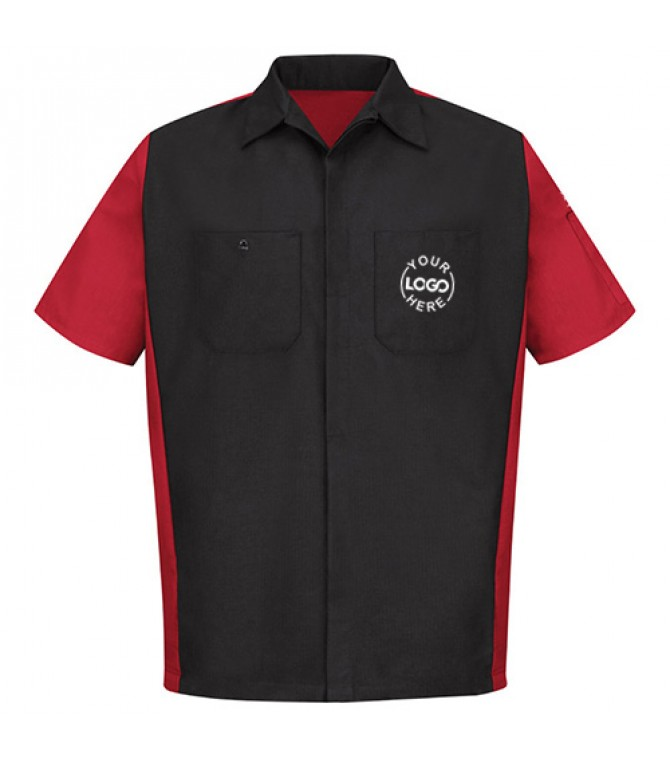 Automotive Mechanic Shirts Half Sleeve Red & Black ...