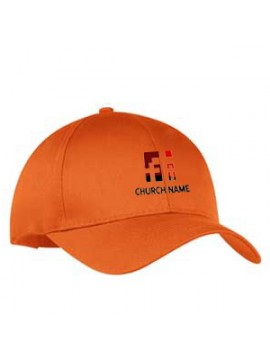 Customized Embroidered Golf Caps Orange