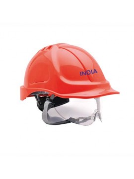 red color security helmet