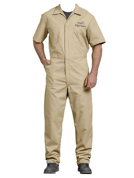 Personalized Half Sleeve Coverall