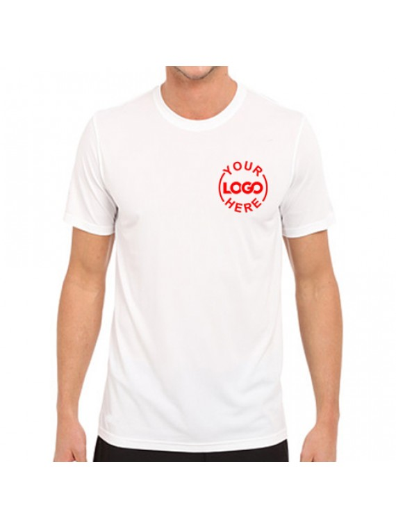 Dri fit round neck white industrial t shirt t shirts for Dri fit t shirts manufacturer