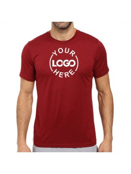 Printed Dri Fast Round Neck T Shirt Red