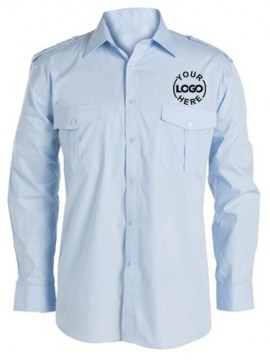 Long Sleeve Blue Driver Uniform Shirt