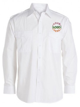 Long Sleeve White Driver Uniform Shirt