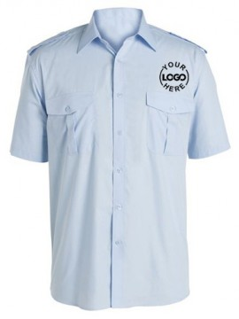 Half Sleeve Blue Driver Uniform Shirt