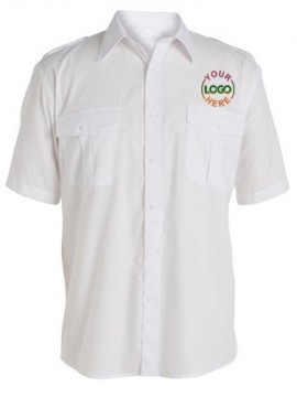 Half Sleeve White Driver Uniform Shirt