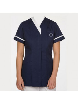 navy blue nurse uniform gown