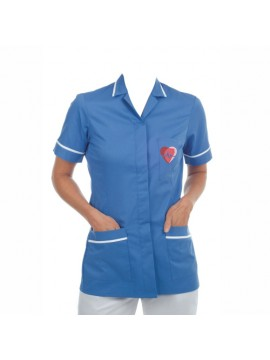 blue nurse uniform shirt