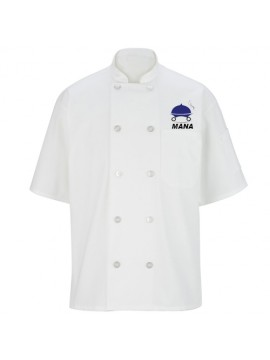 Professional 10 Button Embroidered Chef Coat