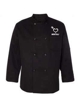 Traditional Embroidered Chef Coat Black
