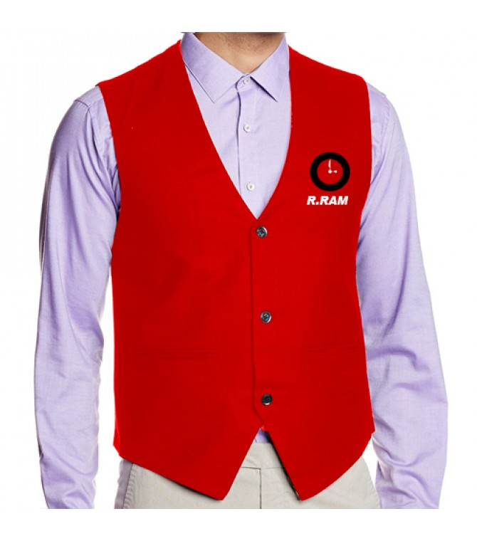 Waiter Waist Coat Red