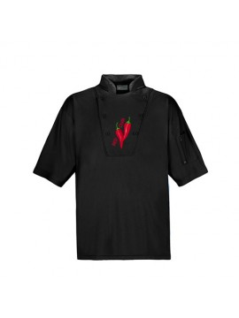 black color customized chef shirt