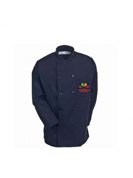 Navy Blue Printed Chef Coat