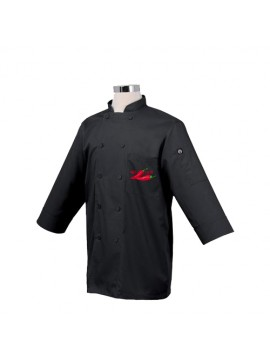 Printed Black Chef Coat