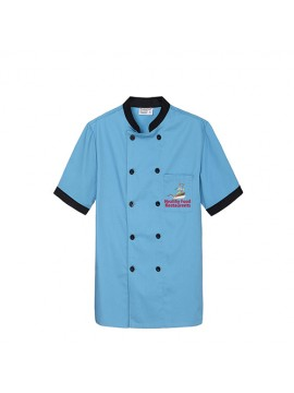 Customized Sky Clue Color Chef Coat