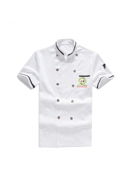 Customized White Printed Chef Coat