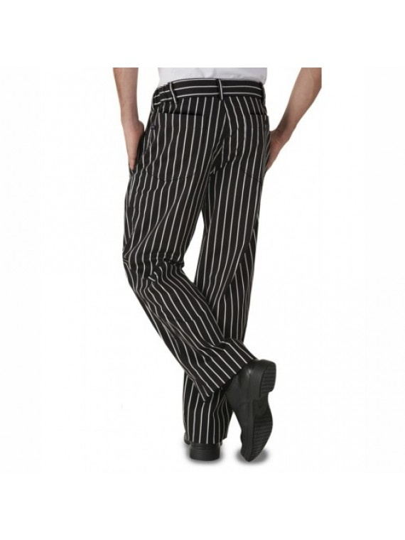 Black White Chef Trouser