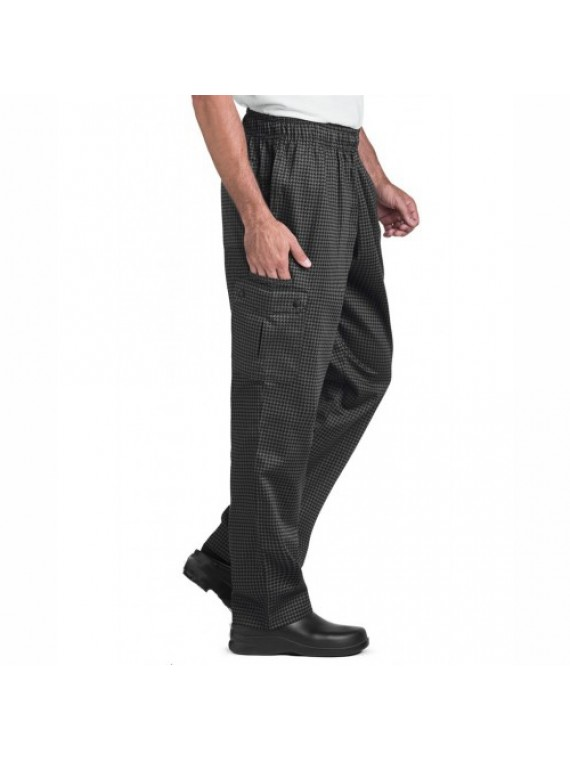 custom black chef trouser
