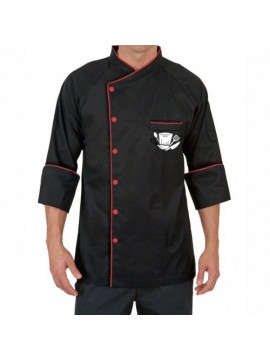 Classic Black Chef Coat
