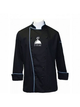 Customized Designer Chef Coat Black