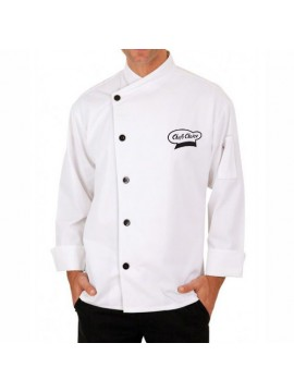 Designer white chef coat
