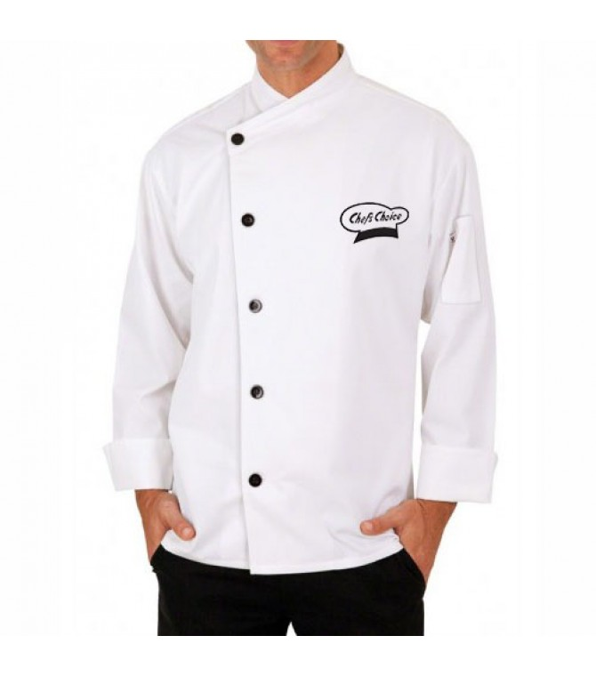 Designer Embroidered White Chef Coat Chefs Jacket