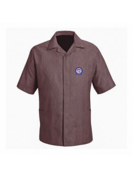 brown janitorial uniform shirt