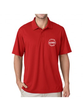 Embroidered Polo Dri Mesh T-Shirt Red