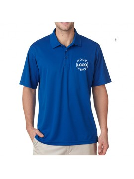 Embroidered Polo Dri Mesh T-Shirt Royal Blue