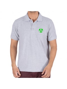 Embroidered Polo Cotton T-Shirt Gray