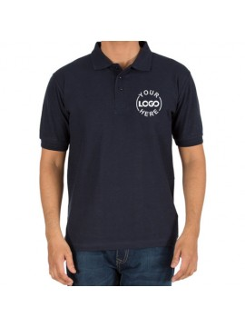 Embroidered Polo Cotton T-Shirt Navy