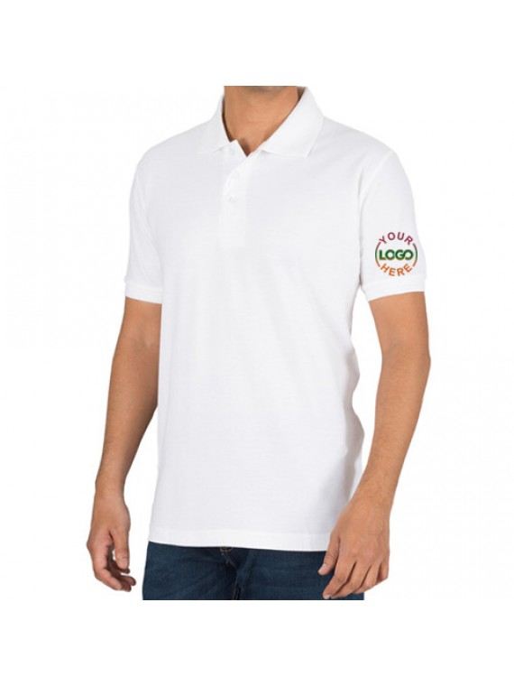 Embroidered Polo Cotton T-Shirt White