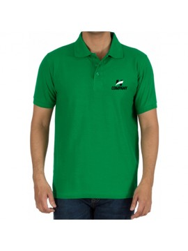 Printed Polo Cotton T-Shirt Green