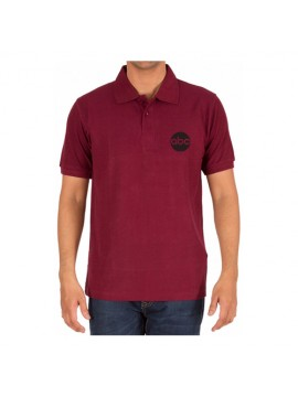 Printed Polo Dri Mesh Corporate T Shirt Maroon
