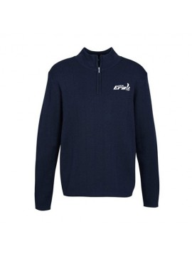 mens needle out pullover blue