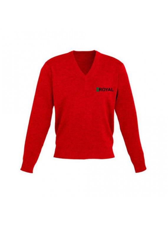 Mens Pullover Mens Sweter Red Pullover V Nack