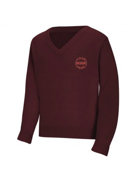 Dark Red V-Neck Sweater