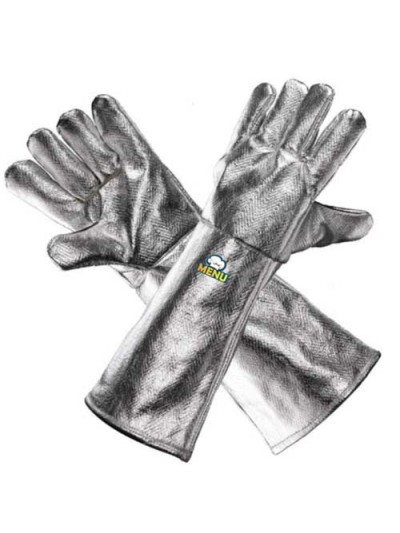 Aluminised Heat Resistant Gloves