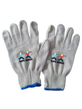 Cotton Knitted Gauge Gloves