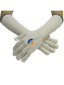 Long Cotton Knitted Safety Gloves
