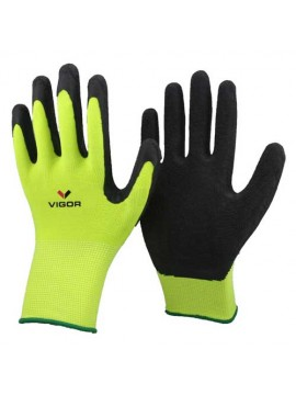 Nylon Knitted Rubber Dipped Gloves