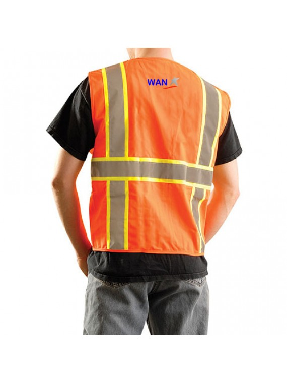 Orange Tone Two Vest Safety Vest