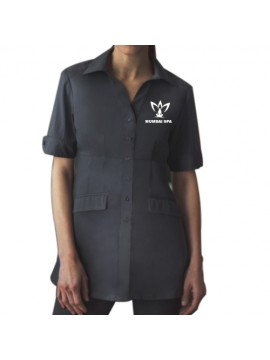 Womens Button Front Spa Tunic