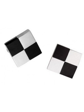 Black and White Checked Cufflink 30
